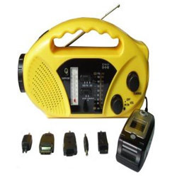 Solar Radio And Mobile Charger With Torch