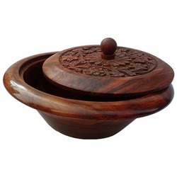 Wooden Bowl With Cap