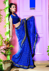 Hand Embroidery Saree Indian