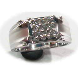 Designer Platinum Gents Ring