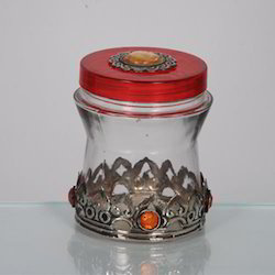 Red Glass Jars