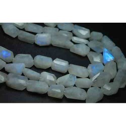 Moonstone Faceted Step Cut Nuggets --Size 22-18mm
