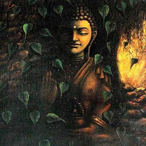 Buddha painting paintings by sanjay soni 9 barakhamba for Buddha mural paintings