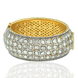 Rose Cut Diamond Bangle Jewelry