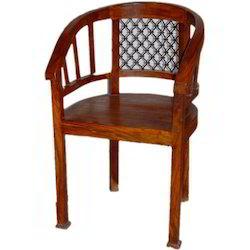 Iron Mesh Back Round Chair