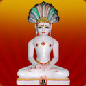 White Marble Jain Mahavir Statue