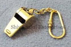 Brass Mini Whistle Key Chain