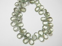 Green+Amethyst+Faceted+Pear+Briolettes