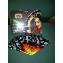 Mehboob Black Outline Henna Cone Paste