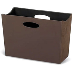 Leather Magazine Rack, Waste Bins