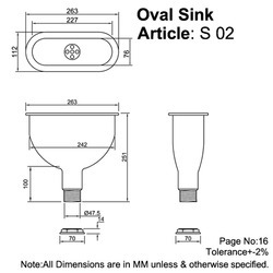Oval Sink Sketch