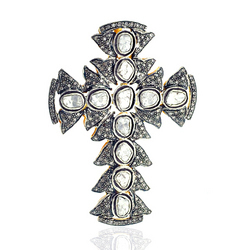 Diamond cross necklace pendant