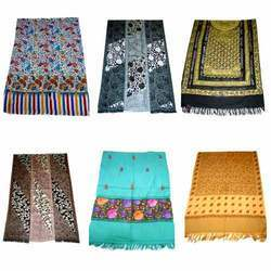 Woolen Embroidered Shawls, Stoles and Scarves