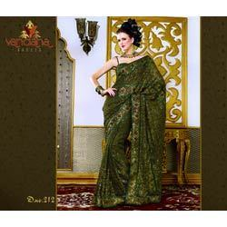 Laser Embroidered Saree