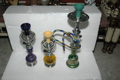 Metal Glass Hukka