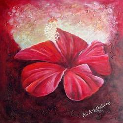 Red Flower Paintings