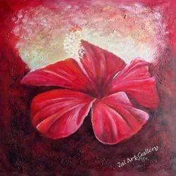 Red Flower Paintings
