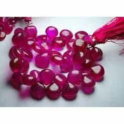 Tourmaline Rubellite Quartz Smooth Polished Heart Briolettes
