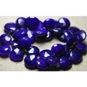 Purple Chalcedony Faceted Briolettes