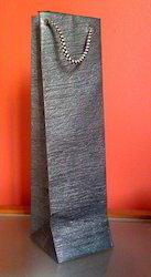 Leather Look Handmade Paper Wine Bottle Bag