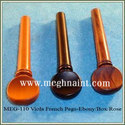 Violin Swiss Pegs, Violin Hill Pegs, Rosewood Violin Pegs, Boxwood Violin Pegs