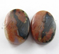 34.15 Ct Oval Shape Jasper Loose Gemstone Pair