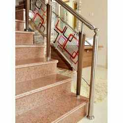 Glass & Steel Pipe Railings