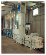 Humidification And Air Control Non Wovens Bale Press system