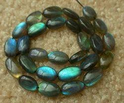 Blue Fire Labradorite Polished Smooth Briolette Beads