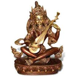 Saraswati Sitting Nepali Statue