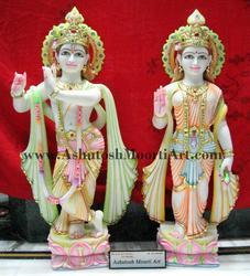 White Radha Krishna Statues