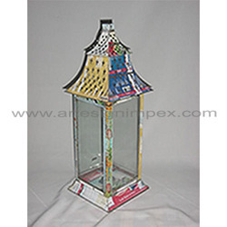 Recycled Colored Tin Lantern