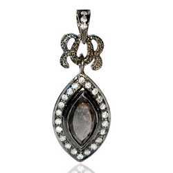 Ice Diamond Oval Pendants