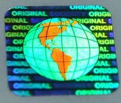 Hologram Labels Security Globe Original