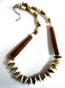 bone necklaces and glass beaded necklaces