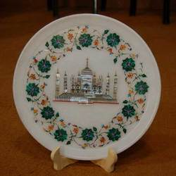 Round Tray With Inlay Art