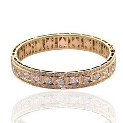 18K Rose Gold Bangle Jewelry