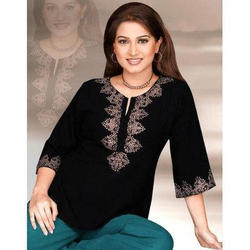 Neck Embroidered Kurti