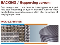 Backing / Supporting Screen