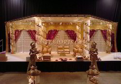 Latest Wedding Brass Crystal Mandap