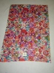 Item No 1319 Silk/Wool Light Weight Multi Color Floral Print