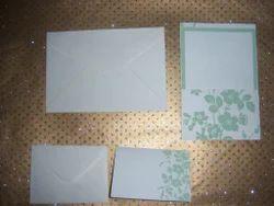 Printed Handmade Paper Wedding Invite