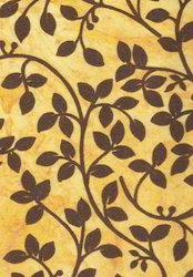 Floral Flock Printed Handmade Papers