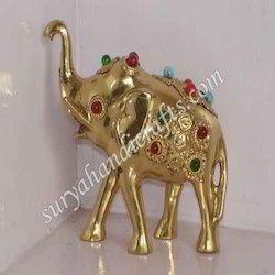 stone brass elephant