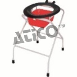 commode folding deluxe full powder coating