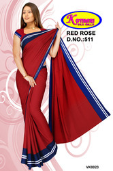 Crepe Uniform Sarees