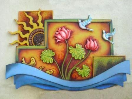 Mural in fiber glass ganesha in fiber manufacturer from for Mural ganesha