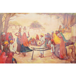 Rural Rajasthani Village Painting