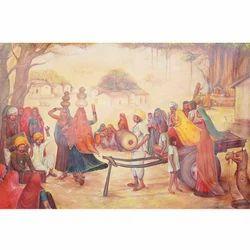 Rural+Rajasthani+Village+Painting