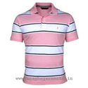 Stripped Polo T Shirt